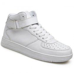 Stylish High Top and PU Leather Design Athletic Shoes For Men -