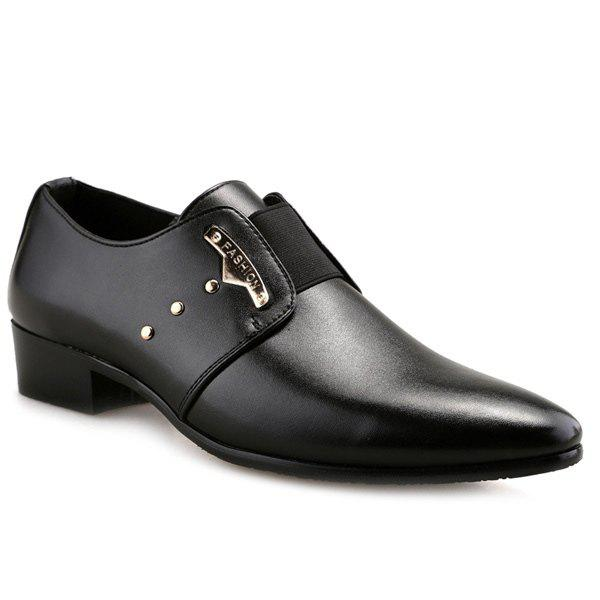 Sale Fashionable Metal and Elastic Band Design Formal Shoes For Men