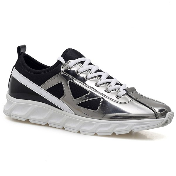 Trendy Color Block et Splice Design Athletic Shoes pour hommes