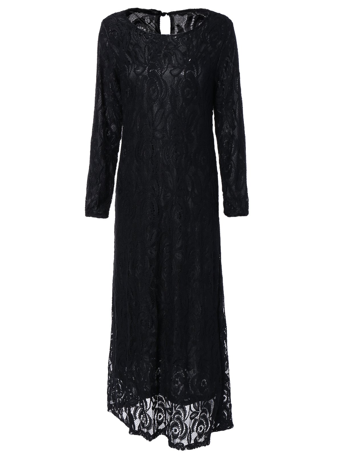 Affordable Long Sleeve Maxi Lace Party Prom Dress