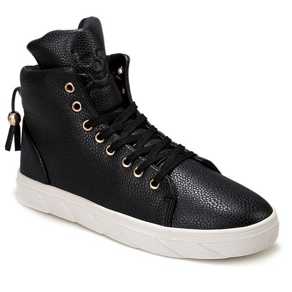 Outfit Fashionable Skull Embossed and High Top Design Casual Shoes For Men