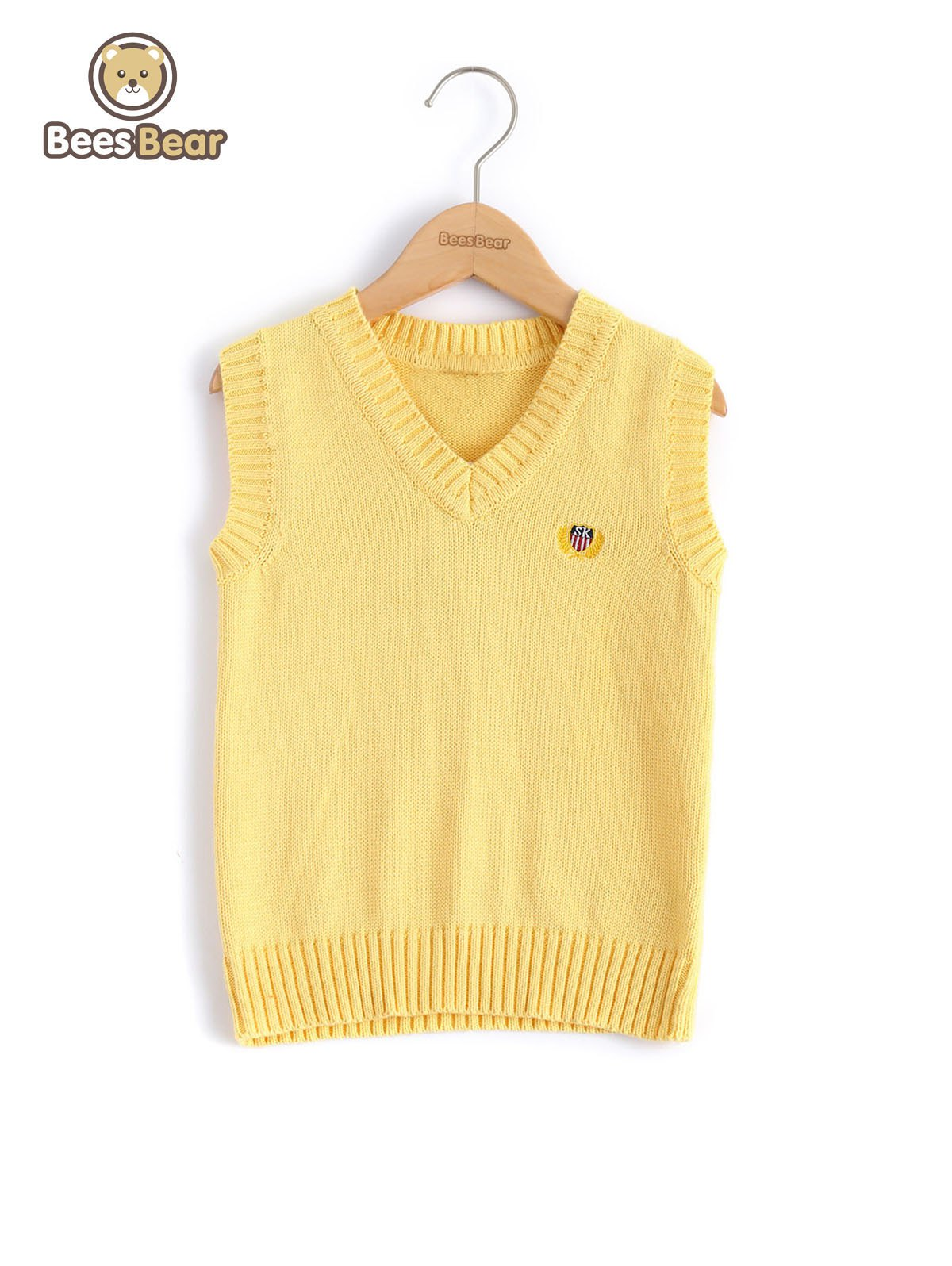 Chic V Neck Solid Color Pullover Knitted Waistcoat