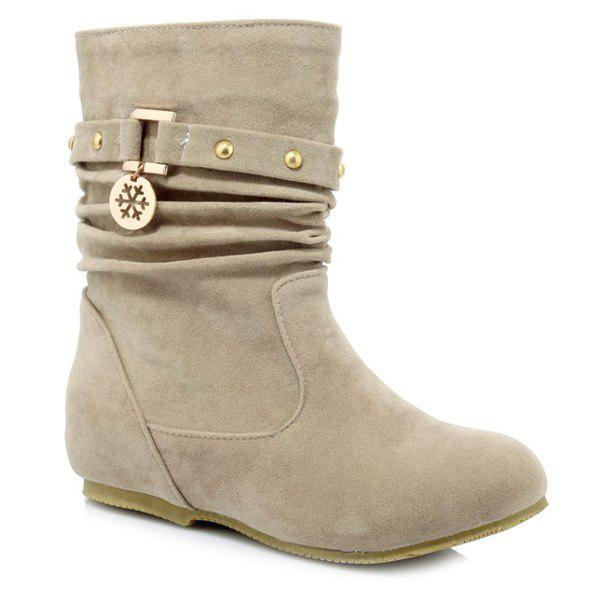 Outfit Casual Metal and Increased Internal Design Boots For Women