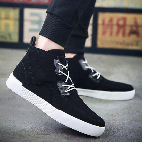 Online Fashionable Suede and High Top Design Casual Shoes For Men