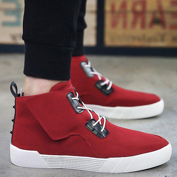 Affordable Fashionable Suede and High Top Design Casual Shoes For Men