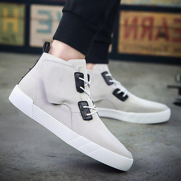 Outfits Fashionable Suede and High Top Design Casual Shoes For Men