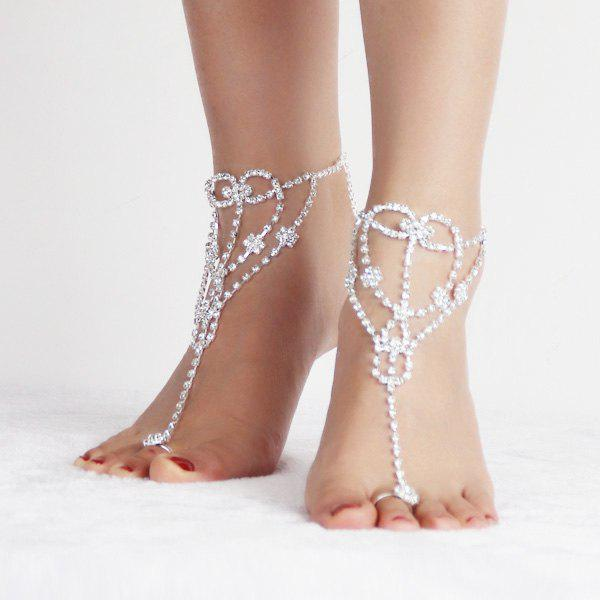 Buy Heart Rhinestone Embellished Anklets