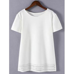 Plus Size Sweet Hollow Out T-Shirt