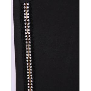 Plus Size Rhinestoned Embellished Pencil Pants -