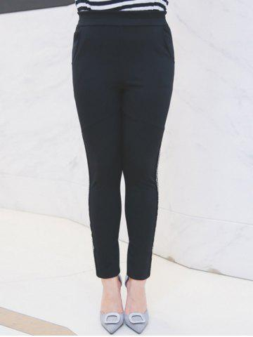 Outfits Plus Size Rhinestoned Embellished Pencil Pants