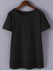 Plus Size Sweet Hollow Out T-Shirt -