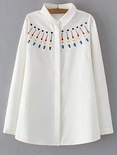 Buy Plus Size Sweet Embroidery Shirt