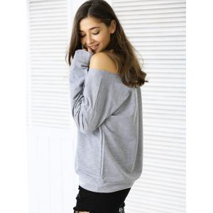 Casual Letter Loose-Fitting Sweatshirt - GRAY XL