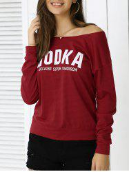 Casual Letter Loose-Fitting Sweatshirt -