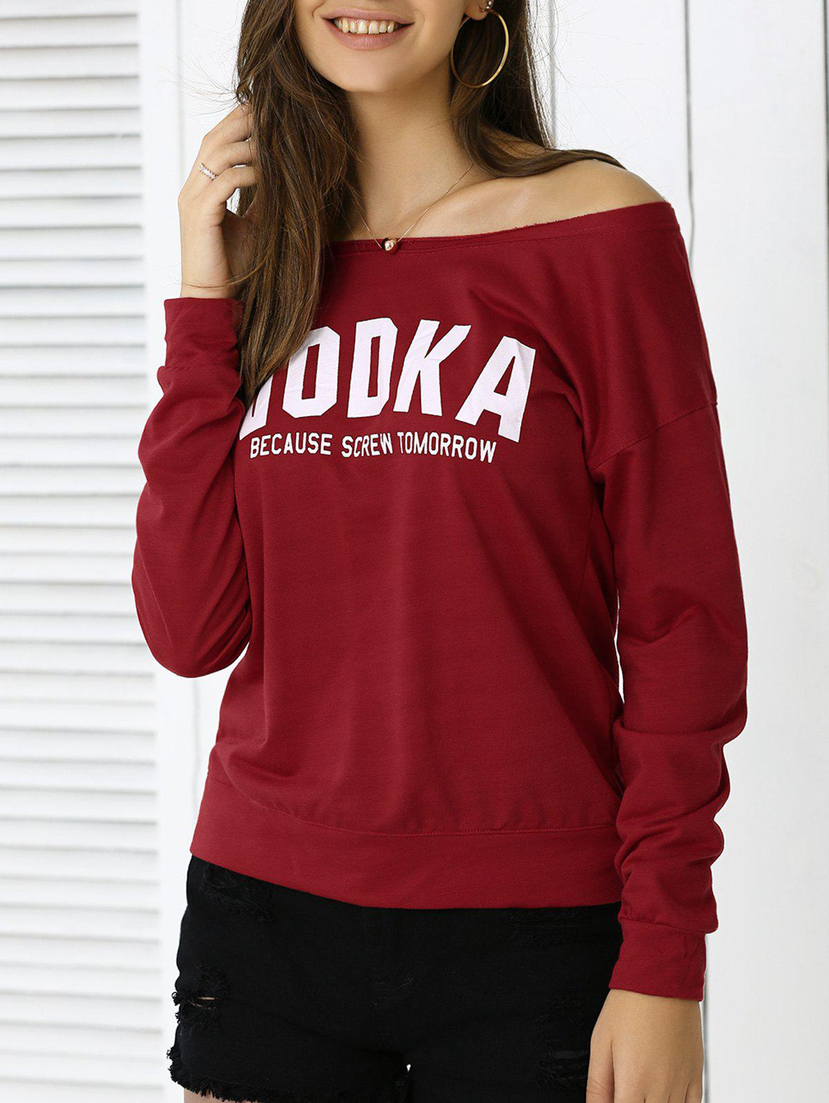 Latest Casual Letter Loose-Fitting Sweatshirt