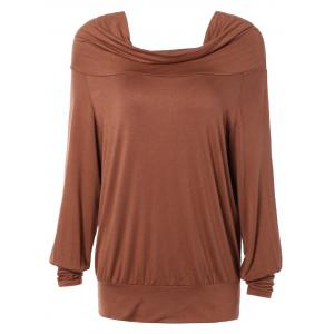 Loose Fit Pure Color Long Sleeve Tee
