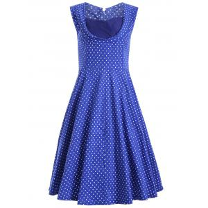 Sweetheart Neck Swiss Dot Dress