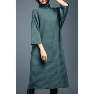 Mock Neck Batwing Sleeve Sweater Dress