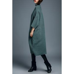 Turtleneck Batwing Sleeve Sweater Dress -