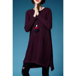A Line Mini Sweater Dress