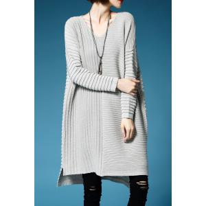V Neck Ruched Oversized Sweater Dress