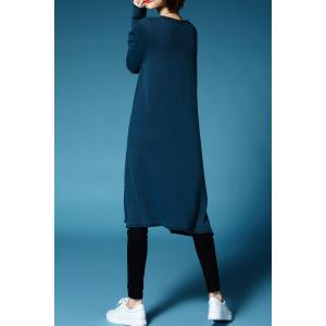 Cable Knit Midi Sweater Dress - LAKE BLUE ONE SIZE(FIT SIZE XS TO M)