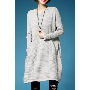 A Line Oversized Mini Sweater Dress
