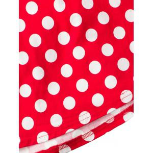 Polka Dot Sweetheart Neckline A Line Dress -
