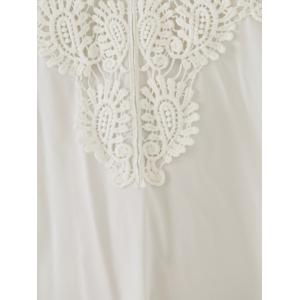 Casual Sleeveless Cut-Out Lace Splicing Flounce Dress For Women -