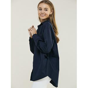 Brief Women's Pure Color Loose-Fitting Shirt -