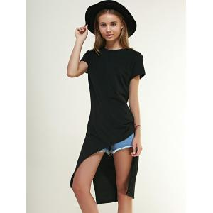 Chic Side Slit High Low T-Shirt For Women -