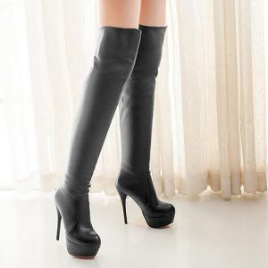 Platform Over The Knee High Heel Boots -