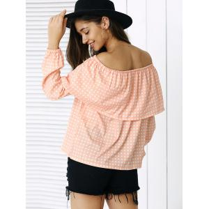 Sweet Overlay Polka Dot Blouse For Women -