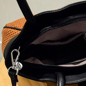 Fashionable PU Leather and Hasp Design Tote Bag For Women -
