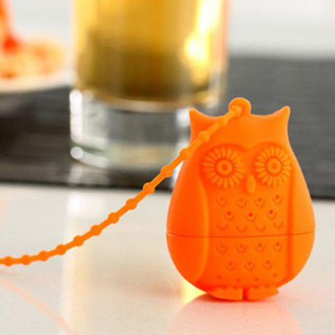 Affordable High Quality Food Grade Silicone Cute Owl Filter Diffuser Tea Strainer