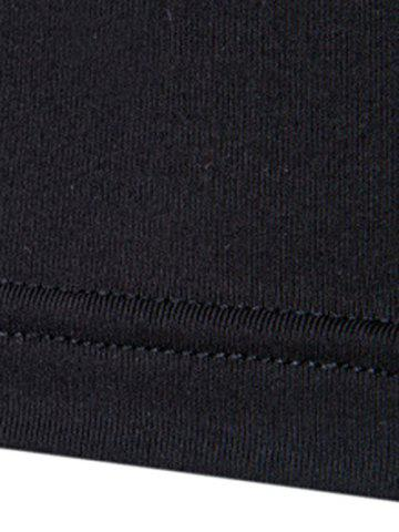 Shops 3D Printing Round Neck Long Sleeves Quick-Dry T-Shirt For Men - 2XL BLACK Mobile