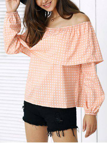 Cheap Sweet Overlay Polka Dot Blouse For Women