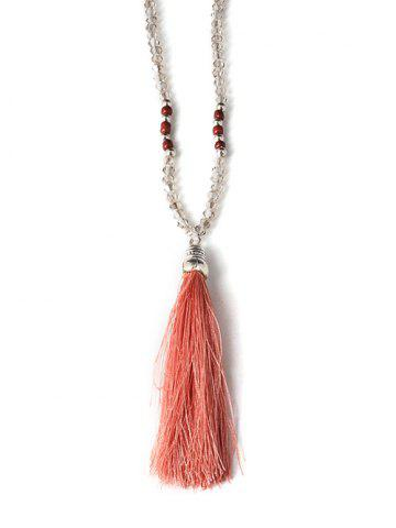 Outfit Tassel Beaded Sweater Chain