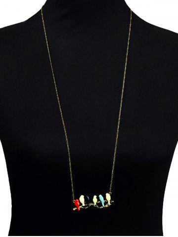 Unique Candy Colored Birds Branch Sweater Chain - COLORMIX  Mobile