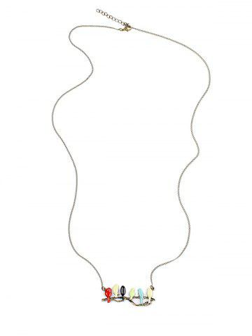 Shop Candy Colored Birds Branch Sweater Chain - COLORMIX  Mobile
