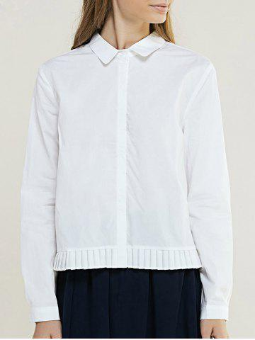 Store Brief Women's Pure Color Pleated Shirt