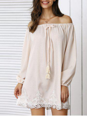 Store Trendy Laciness Off-The-Shoulder Dress For Women