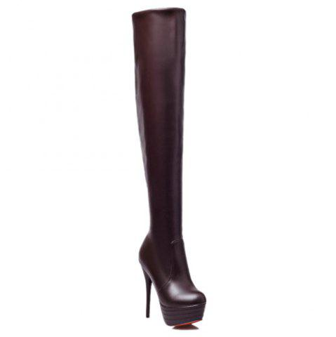 Platform Over The Knee High Heel Boots
