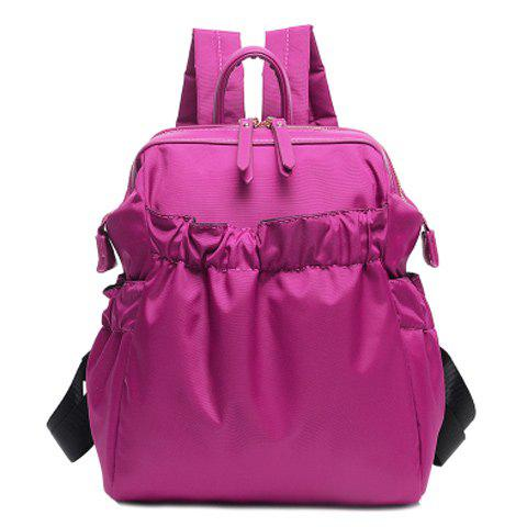 Sale Simple Solid Colour and Nylon Design Backpack For Women