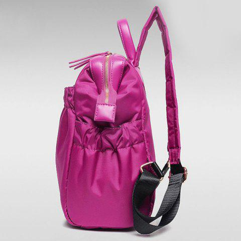 Best Simple Solid Colour and Nylon Design Backpack For Women - RED  Mobile