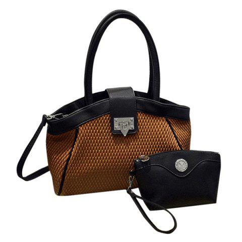 Best Fashionable PU Leather and Hasp Design Tote Bag For Women