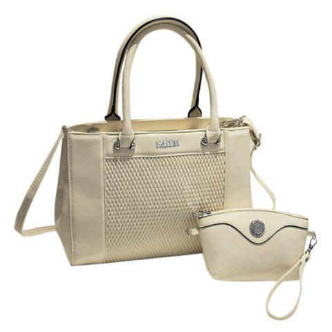Shop Elegant Weaving and PU Leather Design Totes For Women