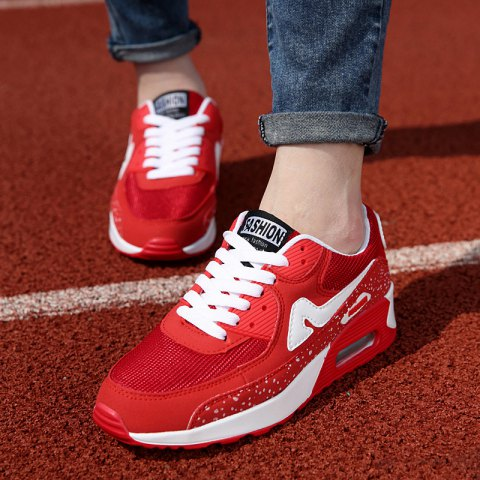 Shop Fashionable Breathable and Tie Up Design Athletic Shoes For Women