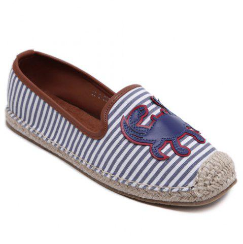 Affordable Simple Striped and Espadrilles Design Flat Shoes For Women