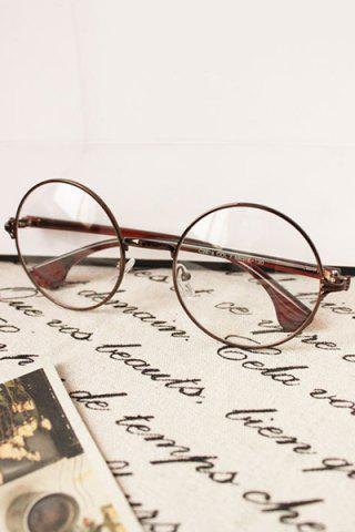 Shops Vintage Style Round Sunglasses - RED BROWN  Mobile